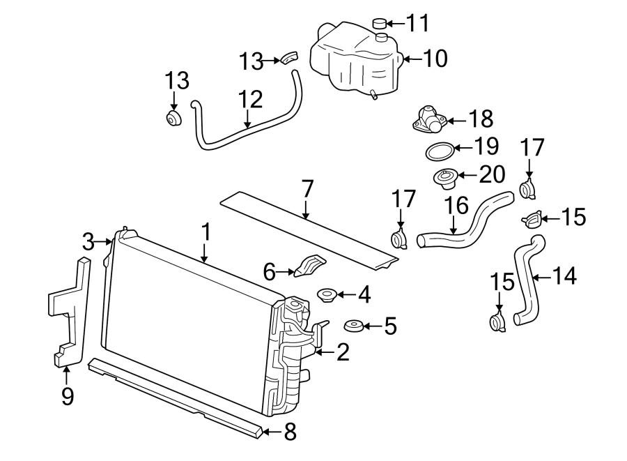 Buick Lesabre Radiator Coolant Hose  Lower   3 8 Liter