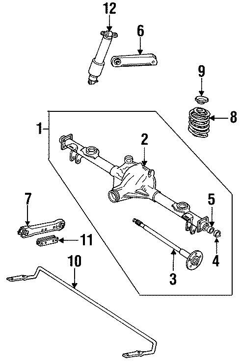 Cadillac Deville Bracket  Stabilizer  Shaft  Bar   Rear