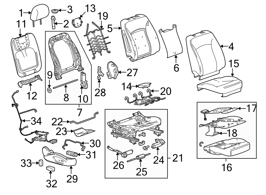 Buick Lacrosse Power Seat Wiring Harness  W  8