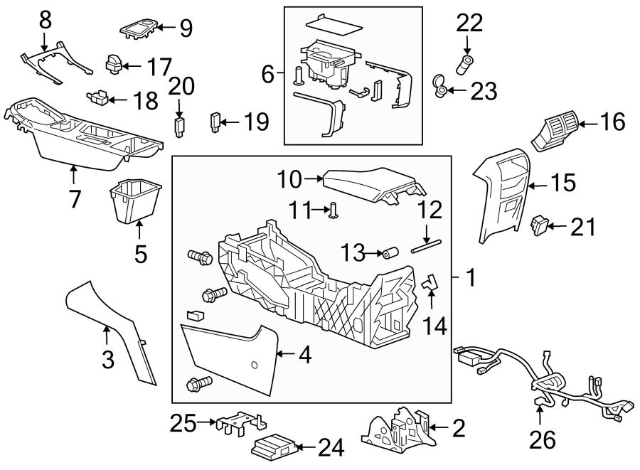Buick Regal Console Bracket  Rear  Upper  Lower   Console  U0026 Components