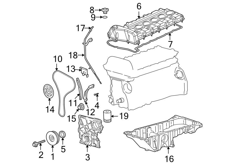 Buick Rainier Engine Timing Chain  Bearings  Liter