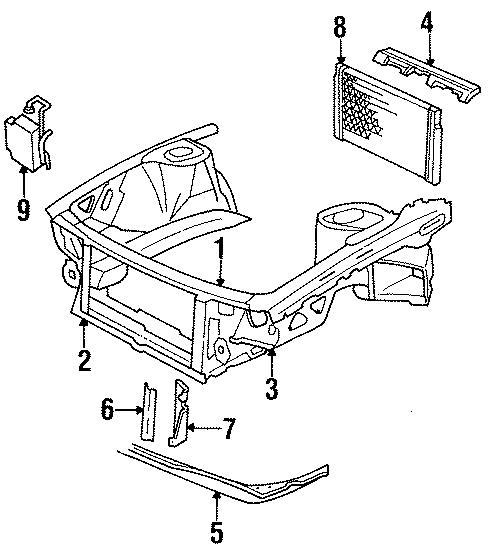 Cadillac Deville Recovery Tank  Reservoir  Radiator