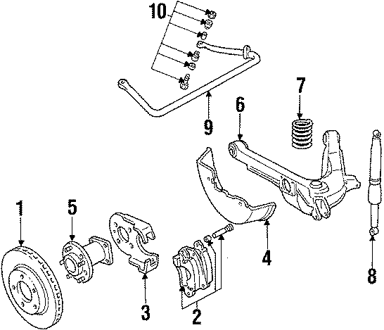 Cadillac Eldorado Caliper  Disc Brake  Left  Suspension