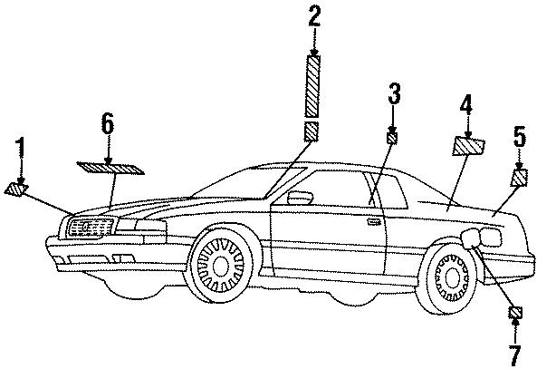Cadillac Eldorado Emission Label  California  Federal