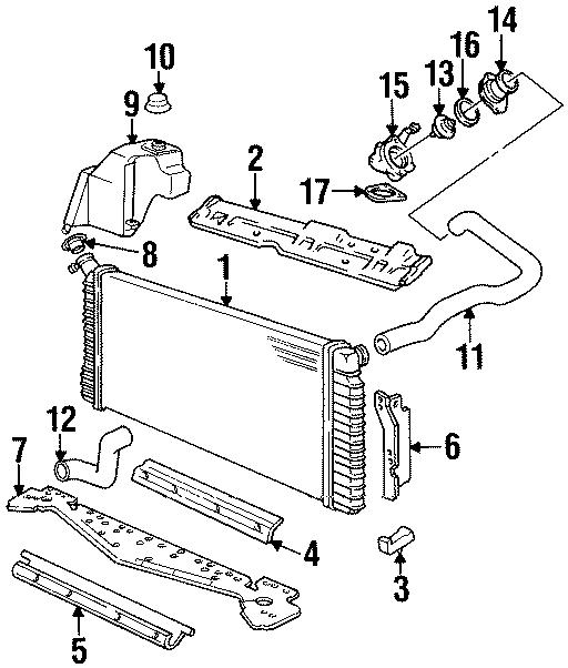 Cadillac Eldorado Engine Coolant Reservoir