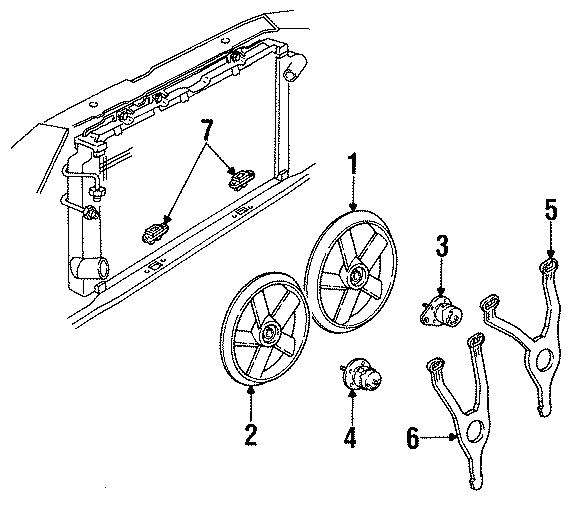 Cadillac Eldorado Engine Cooling Fan Motor  Left  Liter