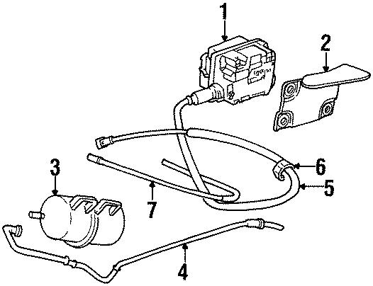 Cadillac Eldorado Cruise Control Cable  1996