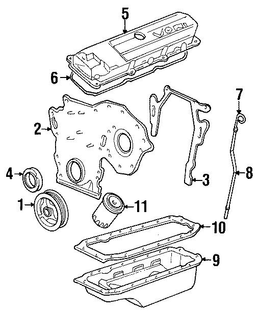 Cadillac Deville Engine Valve Cover Gasket  4 9 Liter