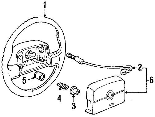Cadillac Seville Horn Button Connector  1992-95  1993-94  1994-95  W  Air Bag