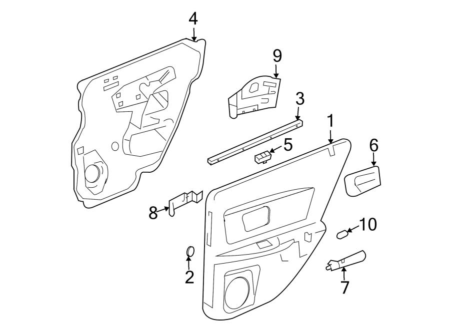 Cadillac Cts Trim  Panel  Retainer  Door  Clip   Rear