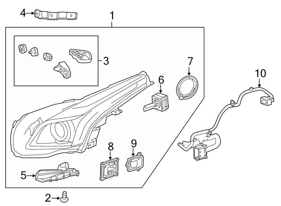 Cadillac Cts Headlight Wiring Harness  2 0l Turbo