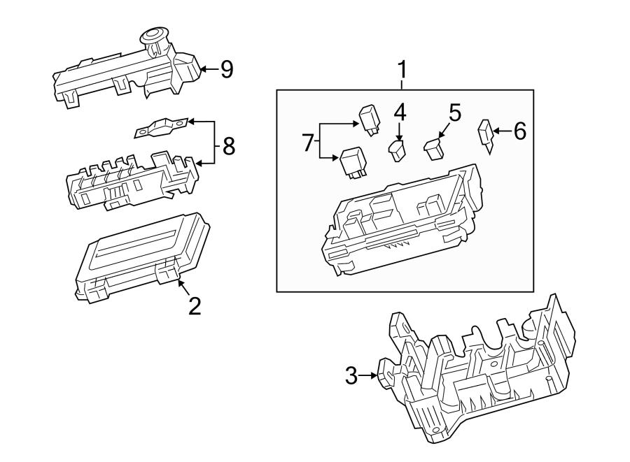 cadillac cts fuse box  engine compartment  mega