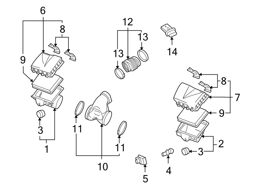 Cadillac Xlr Engine Air Intake Hose  4 4 Liter