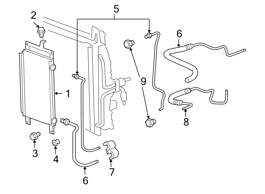 chevrolet impala automatic transmission oil cooler bolt