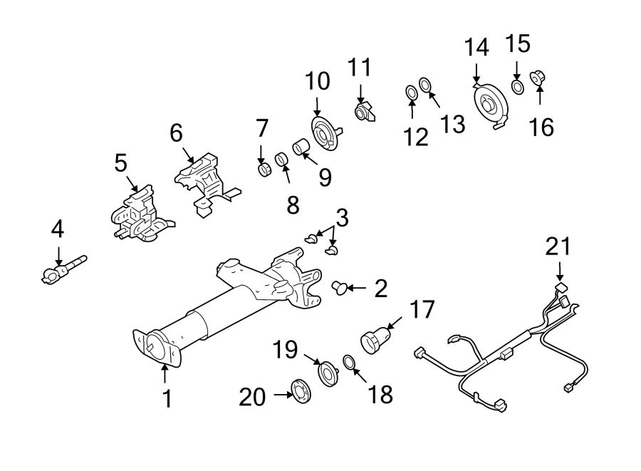 Chevrolet Impala Steering Column Wiring Harness  Floor