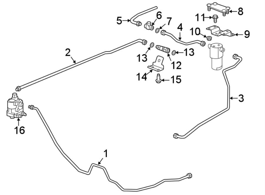 chevrolet impala fuel line  bi cng  fuel supply rear