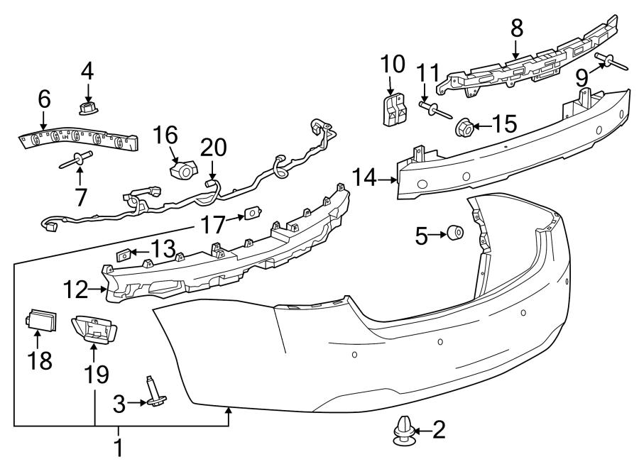 Chevrolet Impala Parking Aid Sensor Bracket  Ls  U0026 Lt  Inboard  Ltz  Premier  Inboard