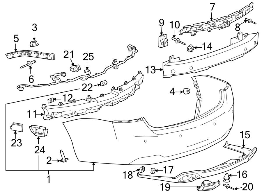 Chevrolet Impala Parking Aid Sensor Bracket  Ls  U0026 Lt