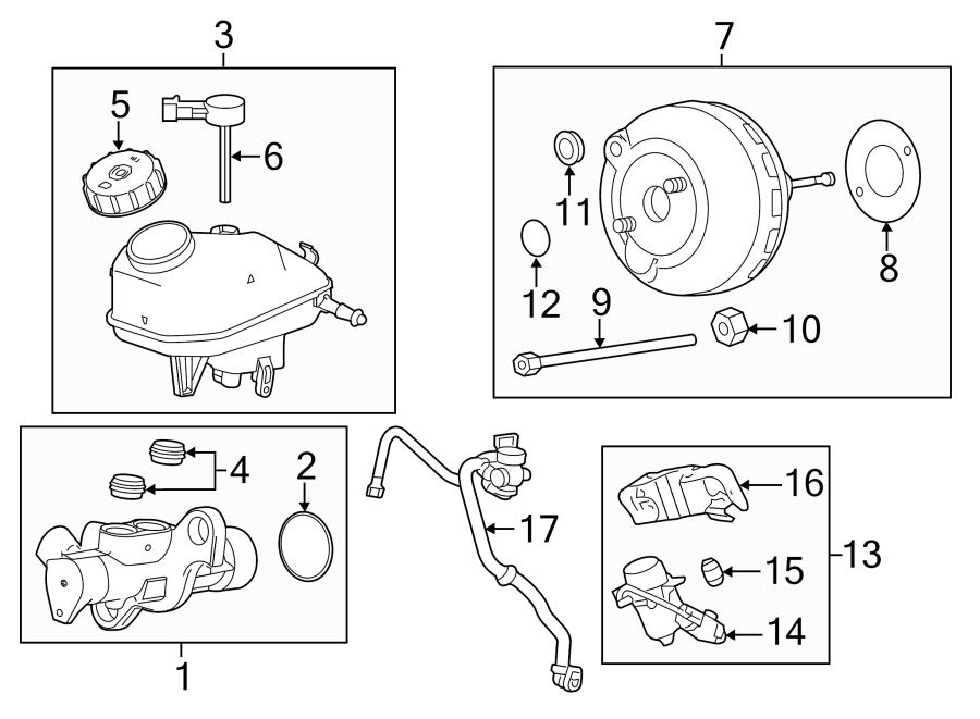 Chevrolet Cruze Limited Brake Vacuum Hose  Manual Trans