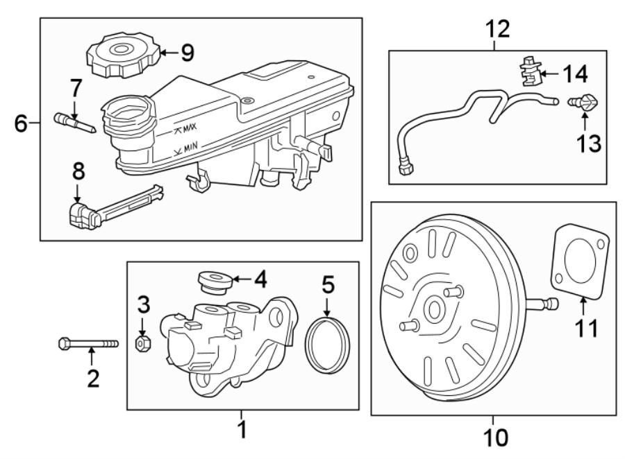 Chevrolet Cruze Brake Vacuum Hose Clip