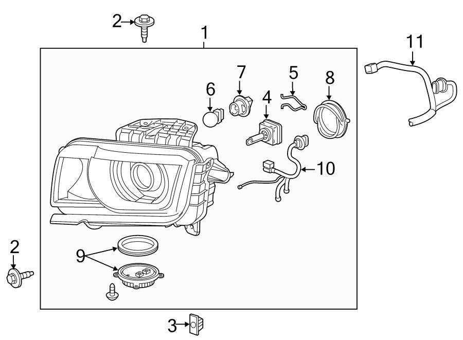 Chevrolet Camaro Headlight Wiring Harness  W  Hid  W  Zl1