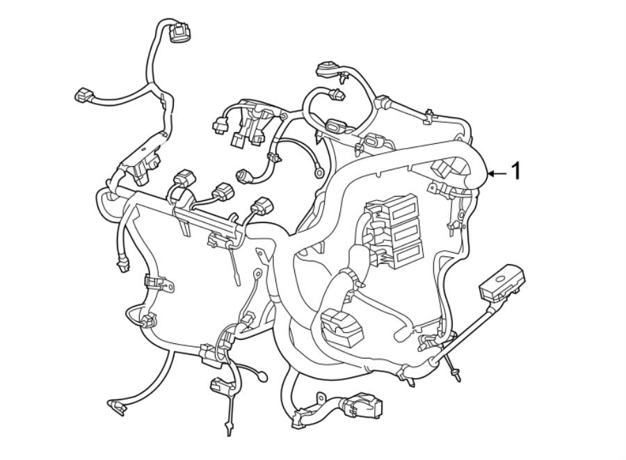 Chevrolet Camaro Engine Wiring Harness  W  O Zl1  6 2 Liter  W  Magnetic Ride  Manual Trans