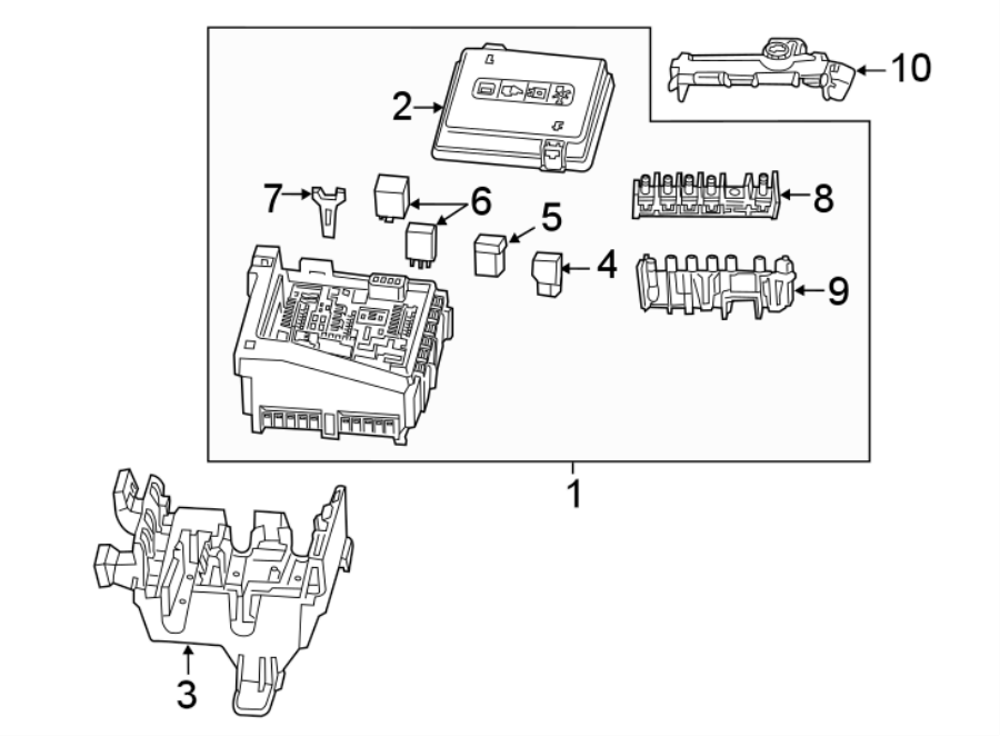 Chevrolet Camaro Fuse And Relay Center  Engine Compartment