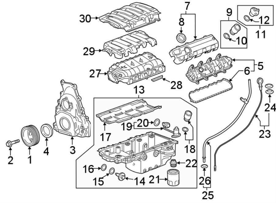 Chevrolet Camaro Engine Intake Manifold Gasket