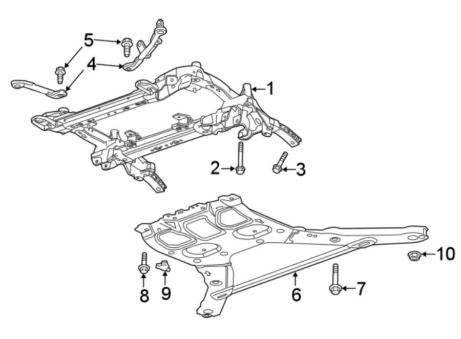 Chevrolet Camaro Suspension Subframe Crossmember  Lt  Ls W