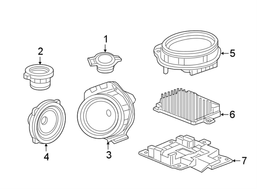 Chevrolet Camaro Speaker  Front  Rear   Speakers  Speakers