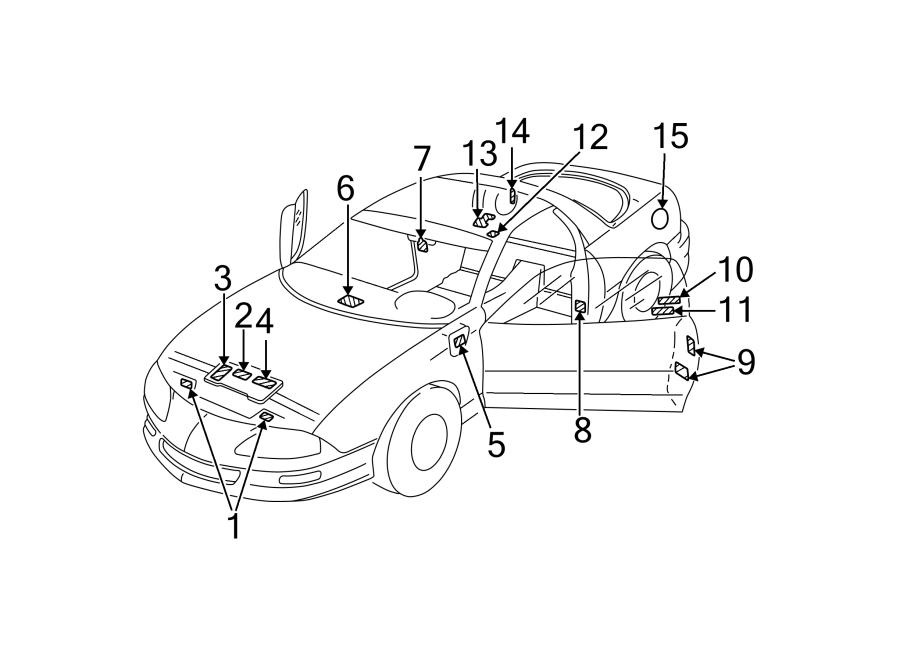 Chevrolet Camaro Engine Decal  Belt Routing  5 7 Liter