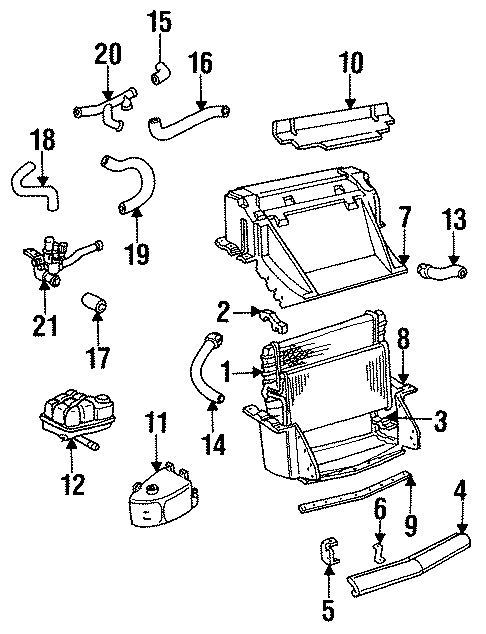 Chevrolet Corvette Bracket  Radiator Bracket   Right