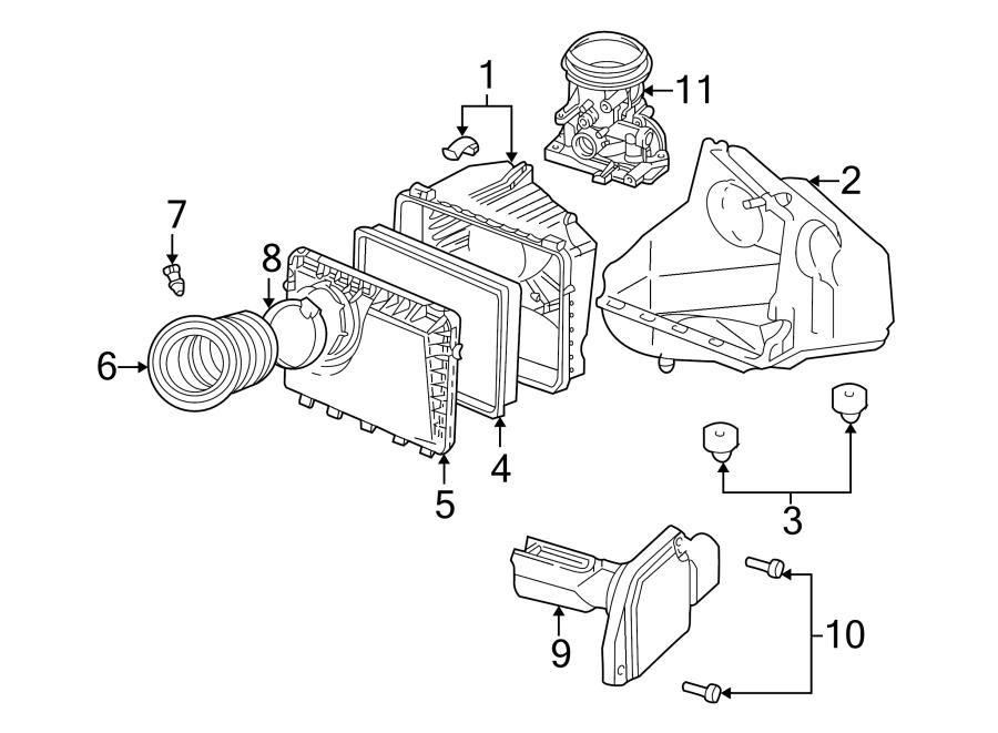 Chevrolet Lumina Mass Air Flow Sensor  Engine  Emission  Liter