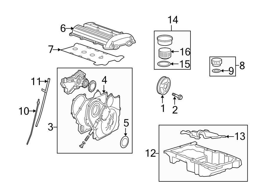 Chevrolet Hhr Gasket  Cover  Valve  Kit  Seal  2 2 Liter  Incl Spark Plug Tube Seals  Cm