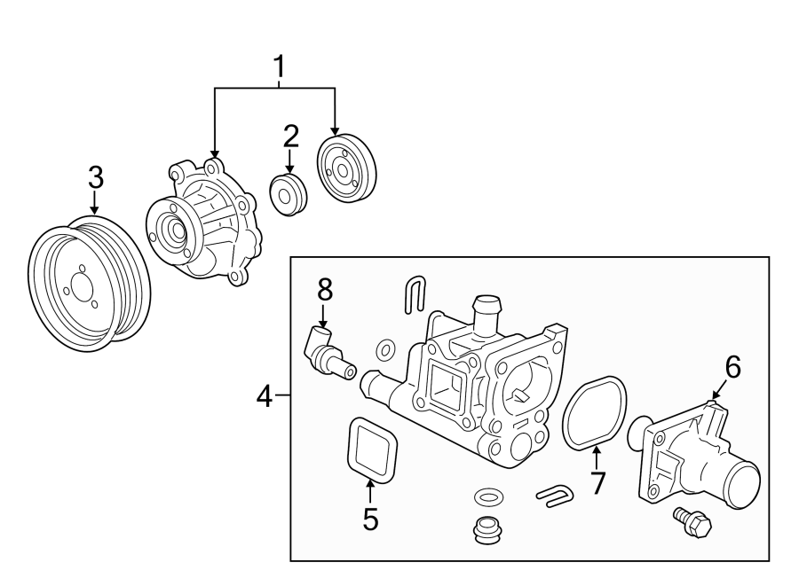 Chevrolet Sonic Engine Water Pump  Cooling  Make