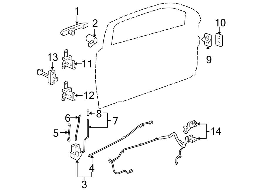 Chevrolet Cobalt Door Wiring Harness  Coupe  Left