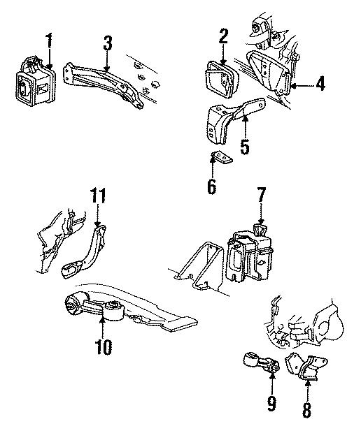 chevrolet cavalier mount  transmission  bracket  auto