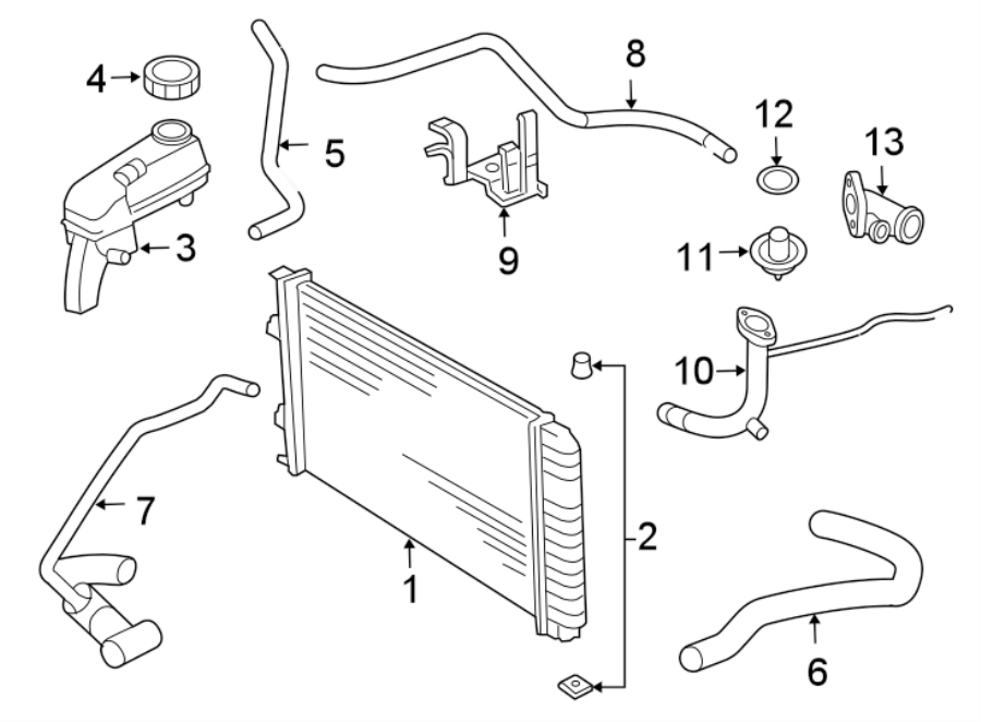 Chevrolet Cavalier Pipe  Engine  Coolant