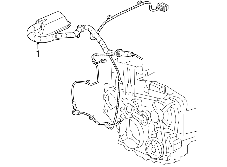 Chevrolet Cavalier Engine Wiring Harness  2 2 Liter  4