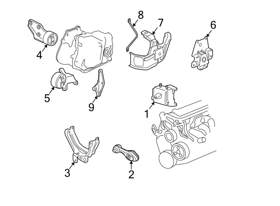 Chevrolet Cavalier Bracket  Mount  Engine  Assembly