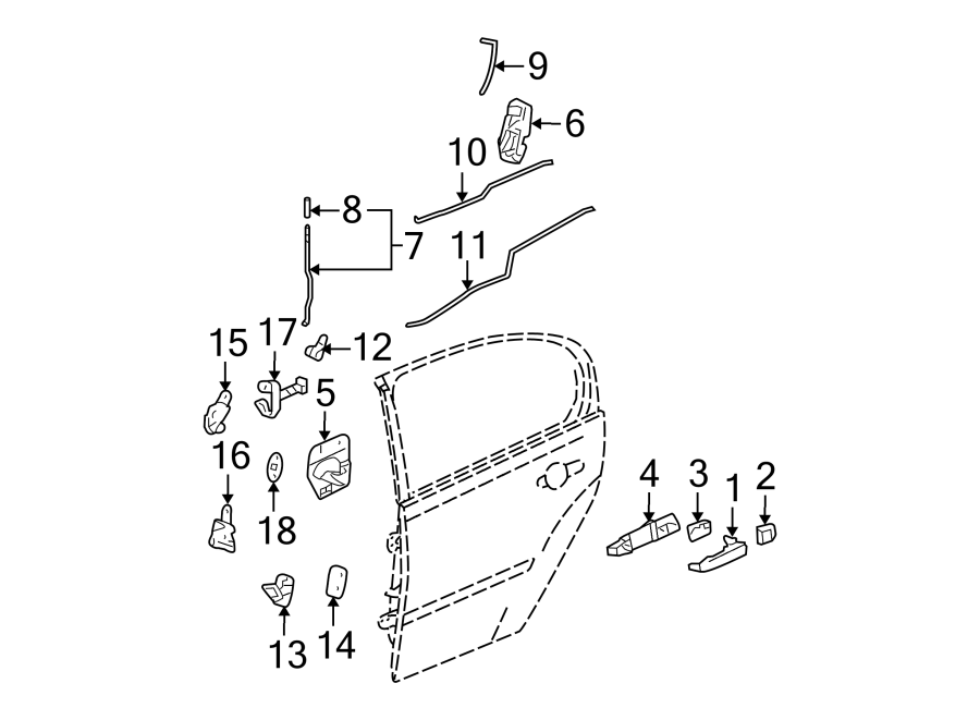 Chevrolet Malibu Lock  Latch  Actuator   Rear