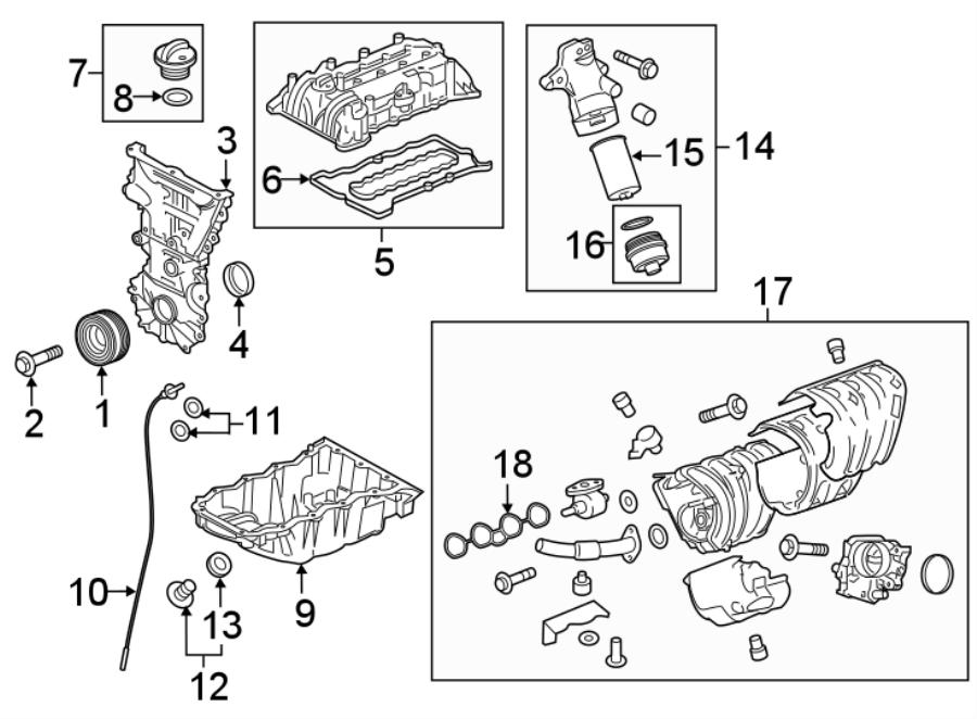 chevrolet malibu engine harmonic balancer bolt  1 8 liter