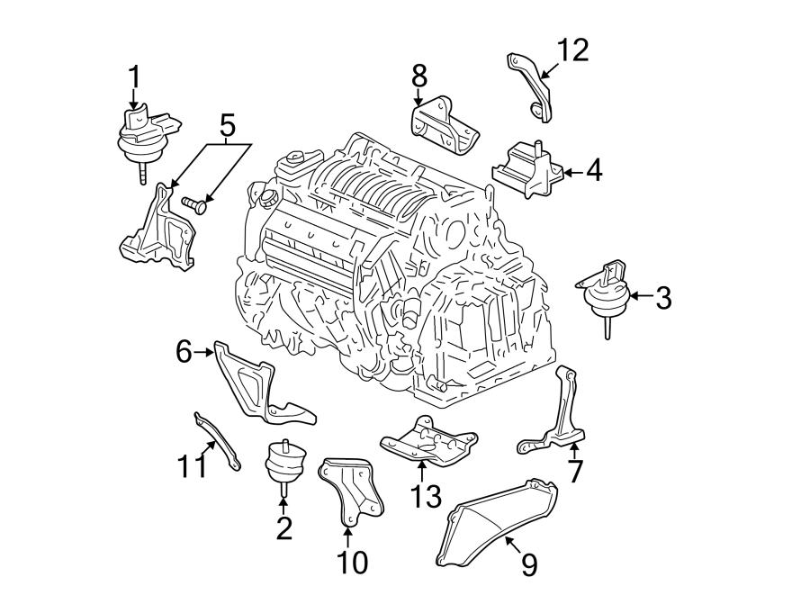 Pontiac Bonneville Automatic Transmission Mount  Rear