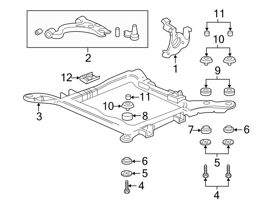 Pontiac Bonneville Engine Cradle Bolt Washer  Front  Rear