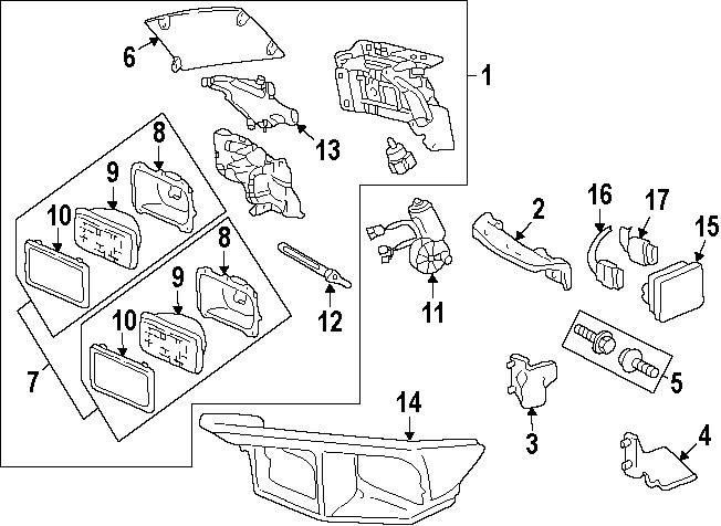 Pontiac Firebird Headlight Assembly  1998-02