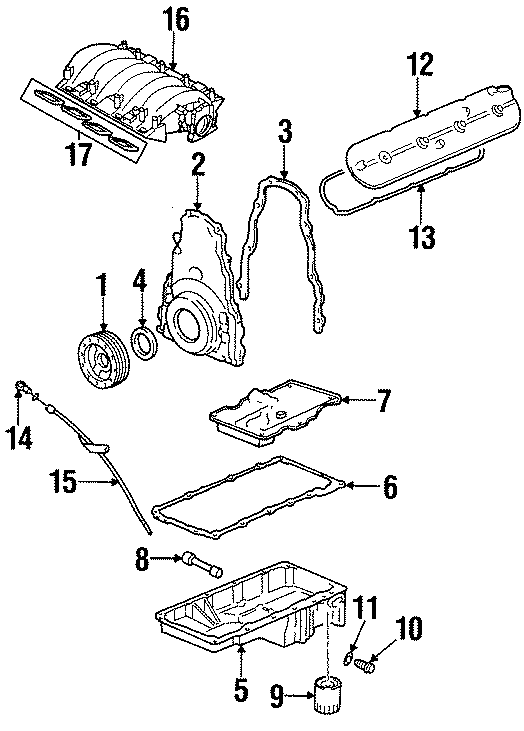 Pontiac Firebird Engine Oil Pan Baffle  5 7 Liter  1998