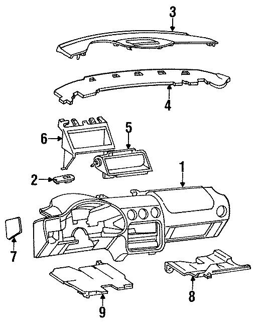 Pontiac Firebird Instrument Panel Pad  1997-02