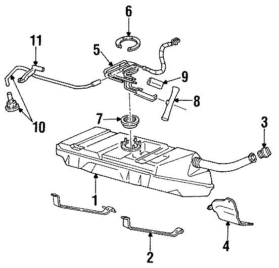 Pontiac Firebird Sending  Fuel  Unit  Sender  And Hanger Assembly  Gauge  Tank  Includes