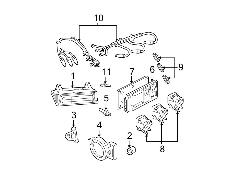 Pontiac Grand Prix Ignition Control Module Bracket