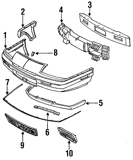 Pontiac Grand Prix Bumper Cover  Fascia